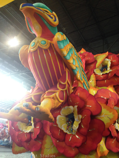 Floats at Mardi Gras World