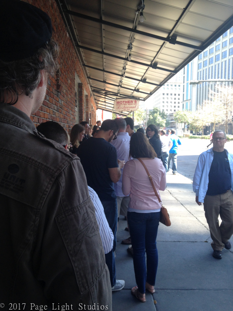 People waiting in line to eat at Mother's, Downtown New Orleans