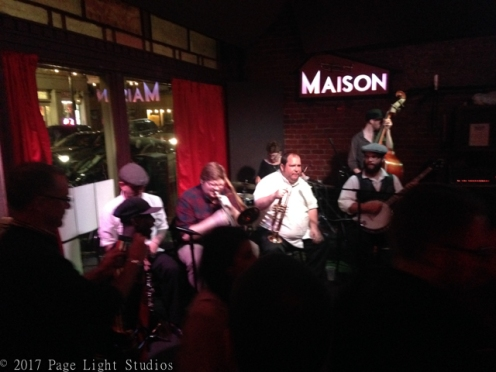 Excellent New Orleans band playing at Maison