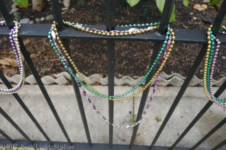 Mardi Gras beads in Algiers