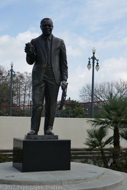 Scene from Louis Armstrong Park in Treme