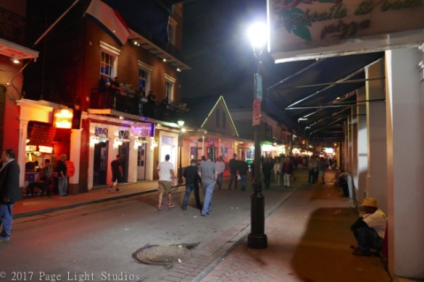 Scene in the French Quarter at night