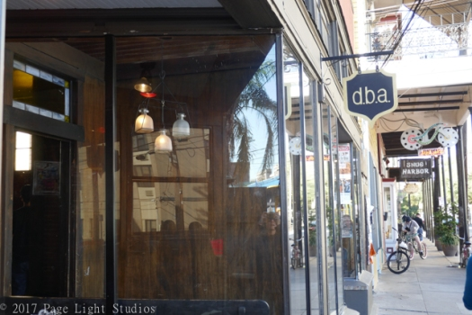 Exterior of the awesome bar, dba